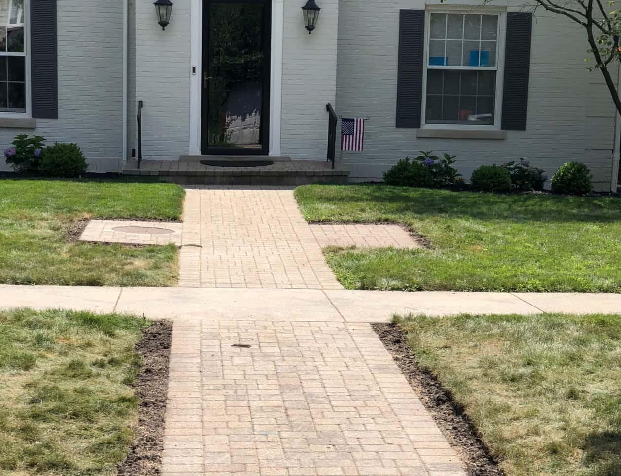 front yard walkway