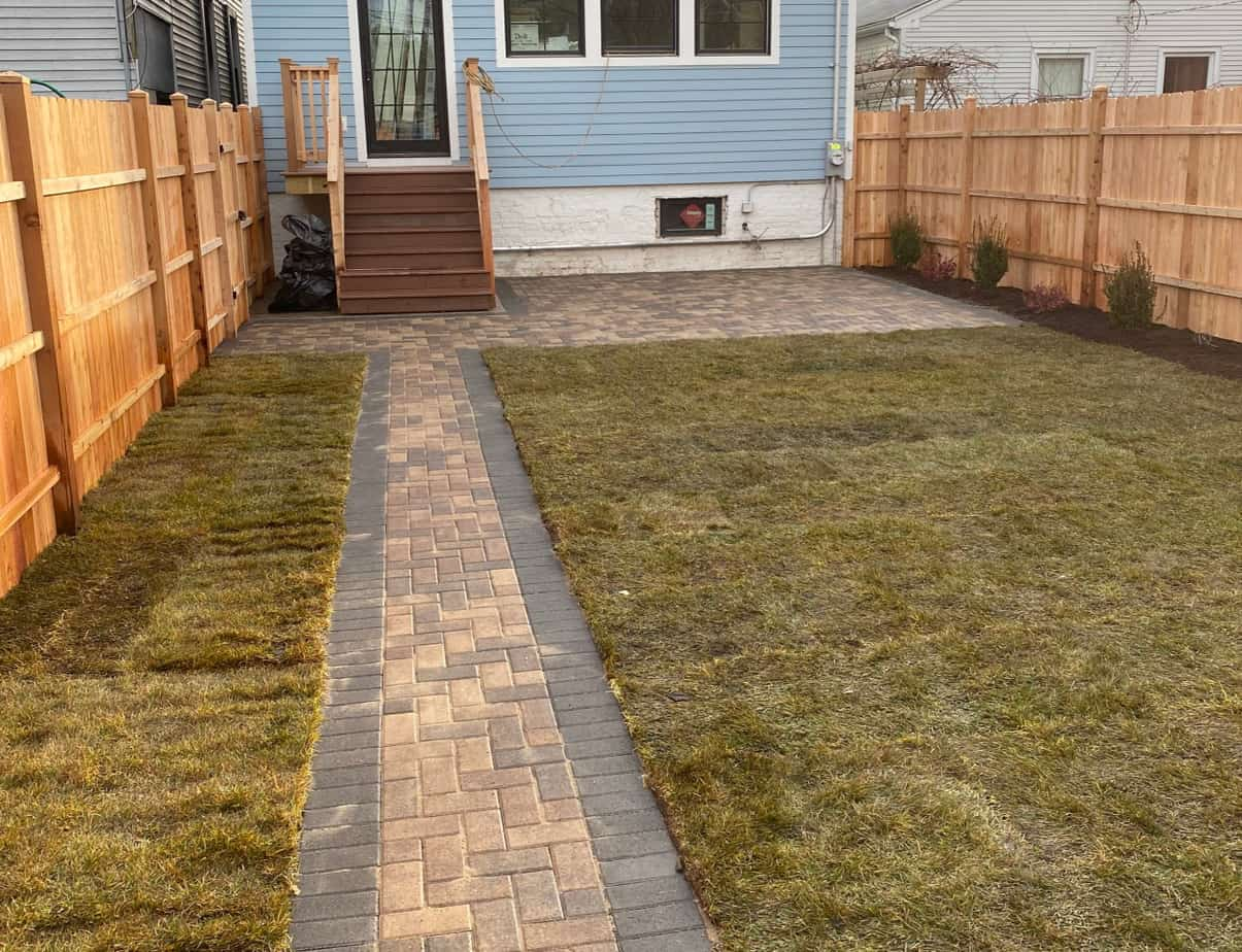 patio paving installation