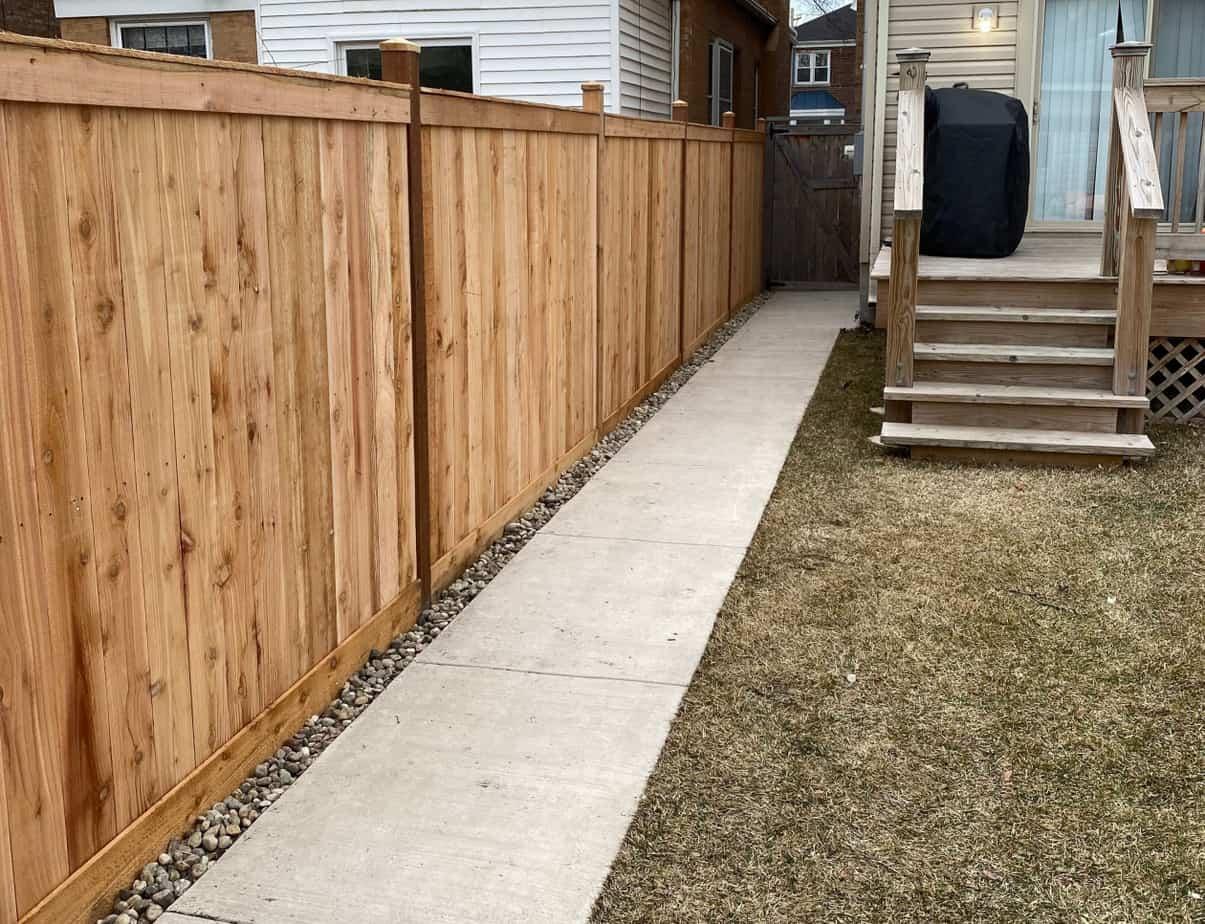 cedar fencing installation